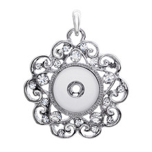 New free DHL 100pcs many styles snap new button pendant,high quality 18mm rhinestone necklace pendant