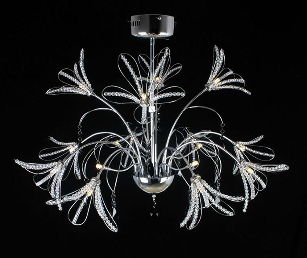 AC100-120V/220-240V High End Luxury Lustre LED pendant lights Modern Crystal LED lustres hanglamp suspension luminaire  lampe