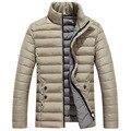 YG6159-1 Baratos por atacado 2016 nova Virada para baixo acolchoado-algodão dos homens de colarinho jaqueta de inverno quente