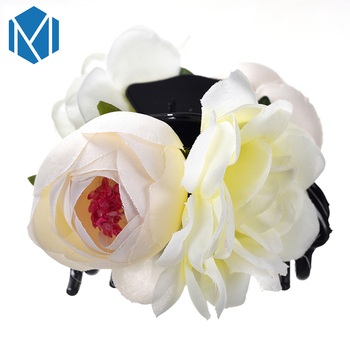 M MISM Wholesale Girls Flowers Hairpins Barrette Hair Claws Headwear Hair Clips Hair Accessories for Womens Bride Hair Ornament