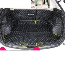 lsrtw2017 fiber leather car trunk mat for mazda cx-5 2017 2018 2019 2nd generation