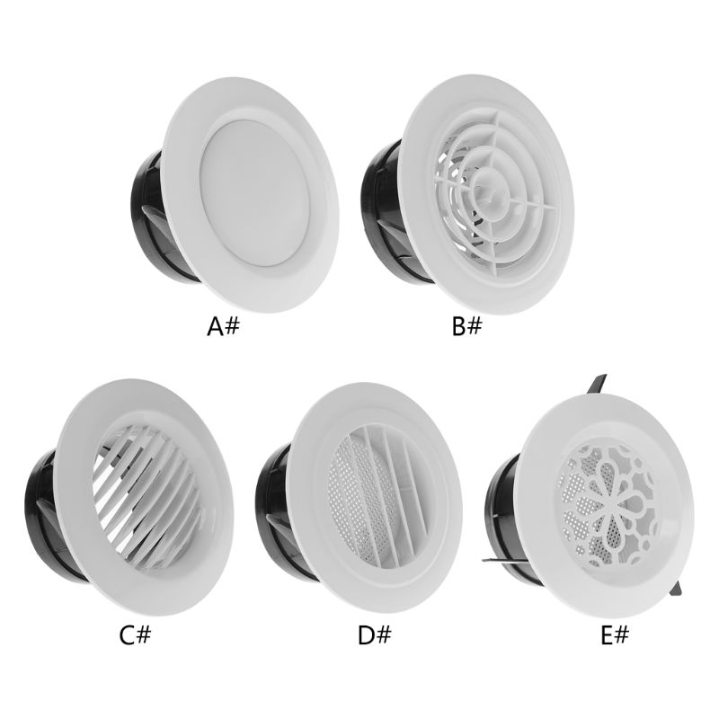 Air Vent Extract Valve Grille Round Diffuser Ducting Ventilation Cover 100mm 5 Size831F
