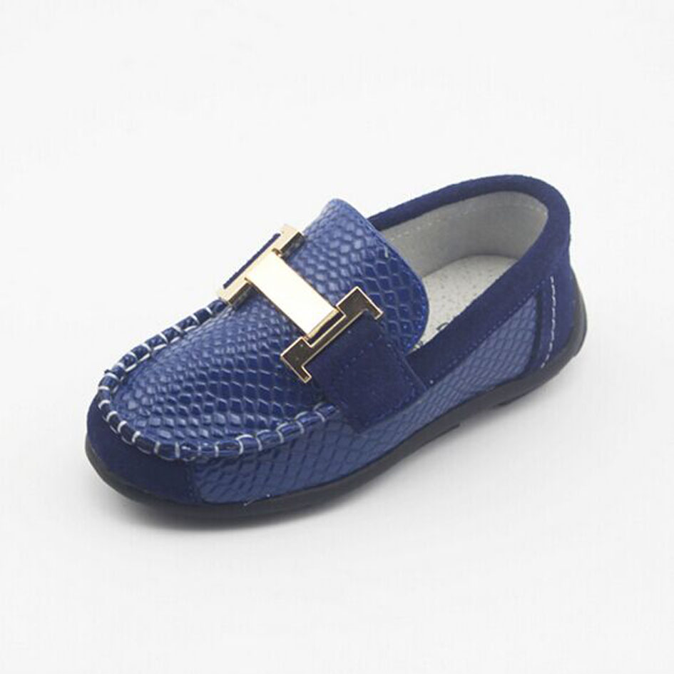 Spring Luxury Leather Boys Loafers Slip