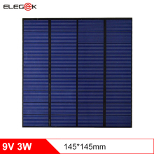 ELEGEEK 3W 9V Solar Cell Panel 145*145mm Monocrystalline PET + EVA Laminated DIY Solar Panel for Solar Systemt and LED Test цена