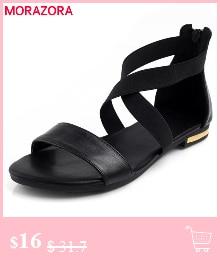 HTB1tRwClrorBKNjSZFjq6A SpXaO MORAZORA Plus size 34-46 New genuine leather sandals women shoes fashion flat sandals cow leather summer rhinestone ladies shoes
