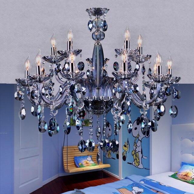 Maria Theresia Kronleuchter Licht Blau Kristall leuchten Glas ...