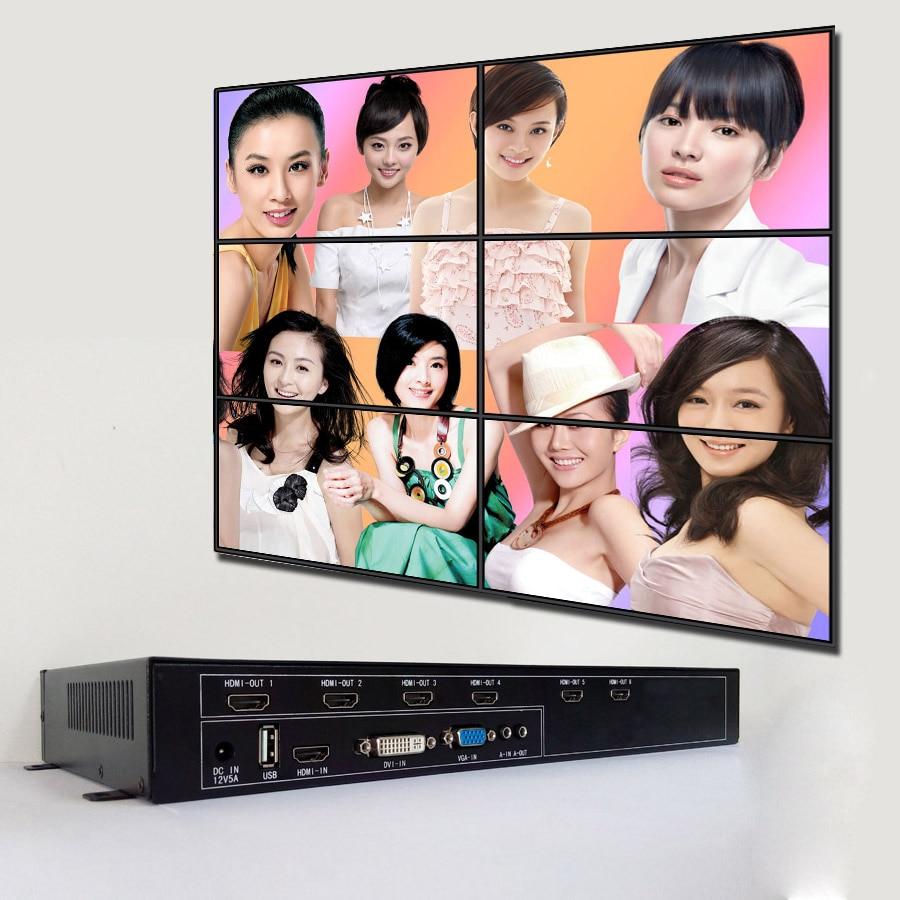 3x2 hdmi video zid kontroler za lcd video zid hdmi izlaz vga dvi hdmi - Kućni audio i video