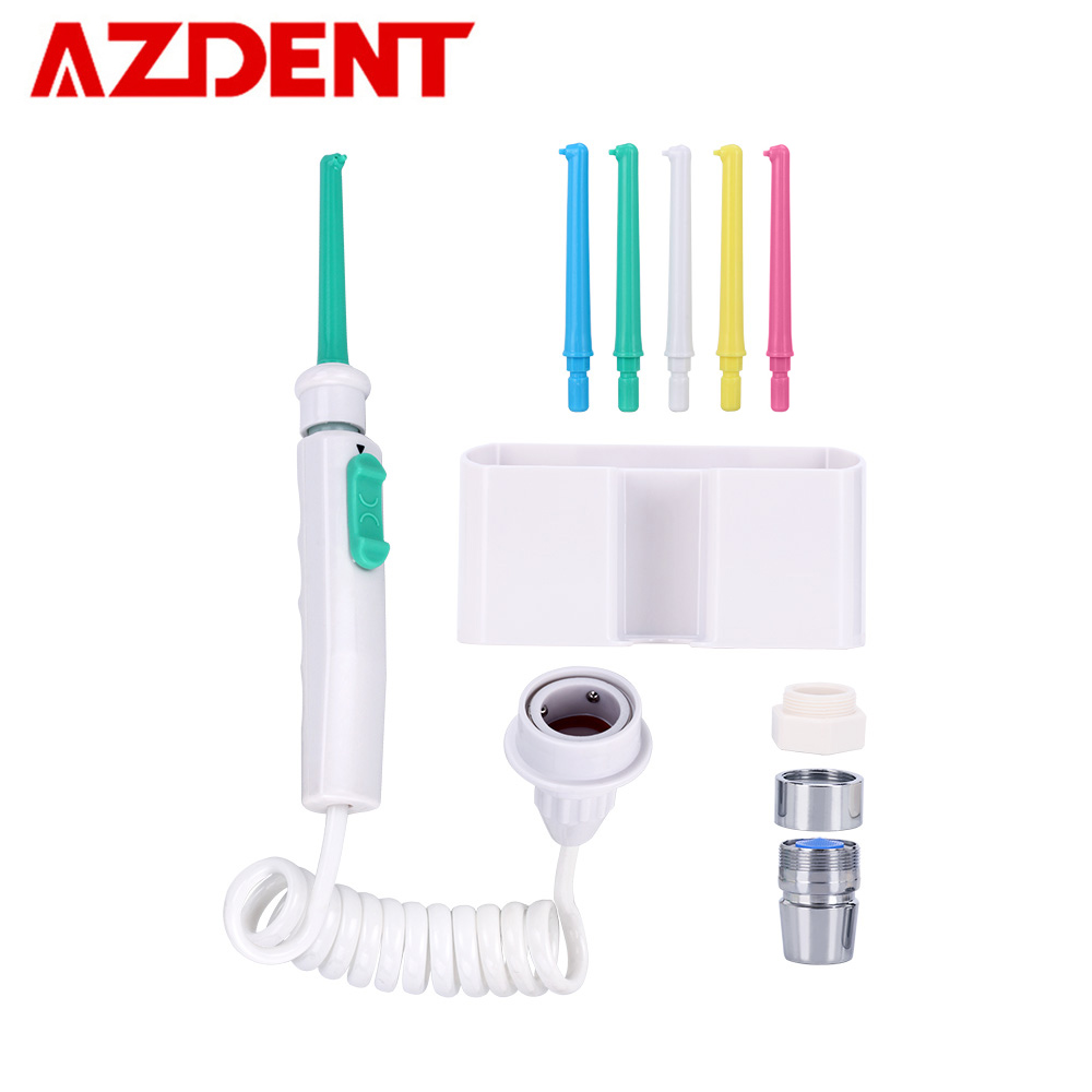 AZDENT 6 Nozzles Faucet Oral Irrigator Water Dental Jet Flosser Water Irrigation Pick Floss Dental Denture Tooth Teeth Cleaning(China)