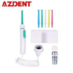 Azdent 6 bicos torneira oral irrigator água dental flosser jato de água irrigação pick floss dental dentadura dentes limpeza
