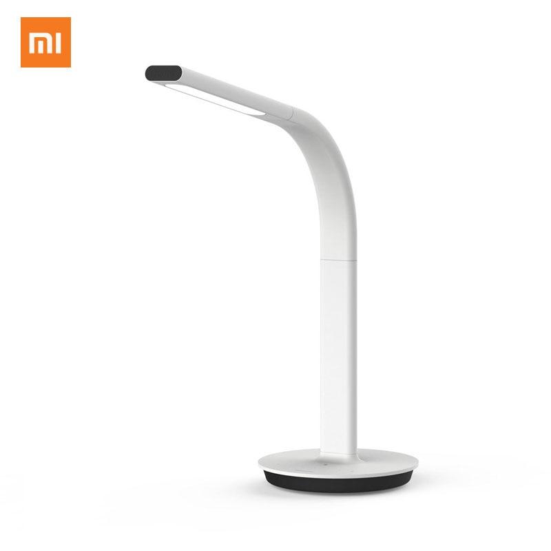 Original Xiaomi Mijia Lámpara de mesa con luz LED 2ª lámpara de escritorio Lámpara de mesa inteligente Lámpara de mesa Luz dual Soporte para teléfono móvil Control de la aplicación