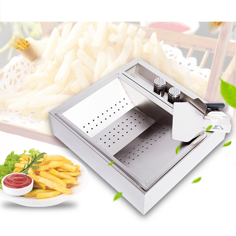 Stainless Steel French Fries Workbench French Fries Pickling Machine For Hamburger Shop Good Quality French Fries Machine good shop 188g