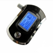 Professional Alcohol Tester Black Police Digital Alcohol Tester Breath Analyzer Breathalyzer Test LCD Detector