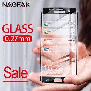 Image 5 - 삼성 갤럭시 s7 s6 가장자리 강화 된 화면 보호기에 대한 nagfak 보호 유리 삼성 s7 필름에 대한 3d 곡선 가장자리 유리