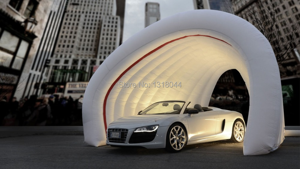 buy outdoor white double layer inflatable car garage tent for car show from. Black Bedroom Furniture Sets. Home Design Ideas