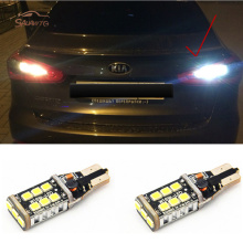 2 X T15 W16W Xenon White 15 LED Back Reverse Light For kia rio k2 3 armrest ceed sportage sorento cerato soul picanto optima k3
