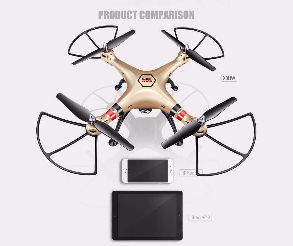 SYMA Official X8HW FPV RC Drone with WiFi HD Camera Real-time Sharing Drones Helicopter Quadcopter Dron with Hovering Function 10