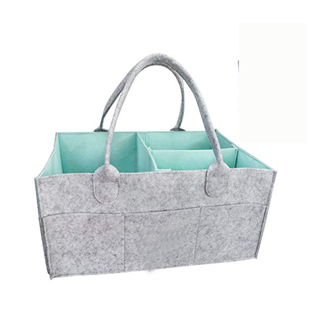 Baby Diaper Wipes Bag Caddy Nursery Storage Bin Infant Nappy Organizer Basket
