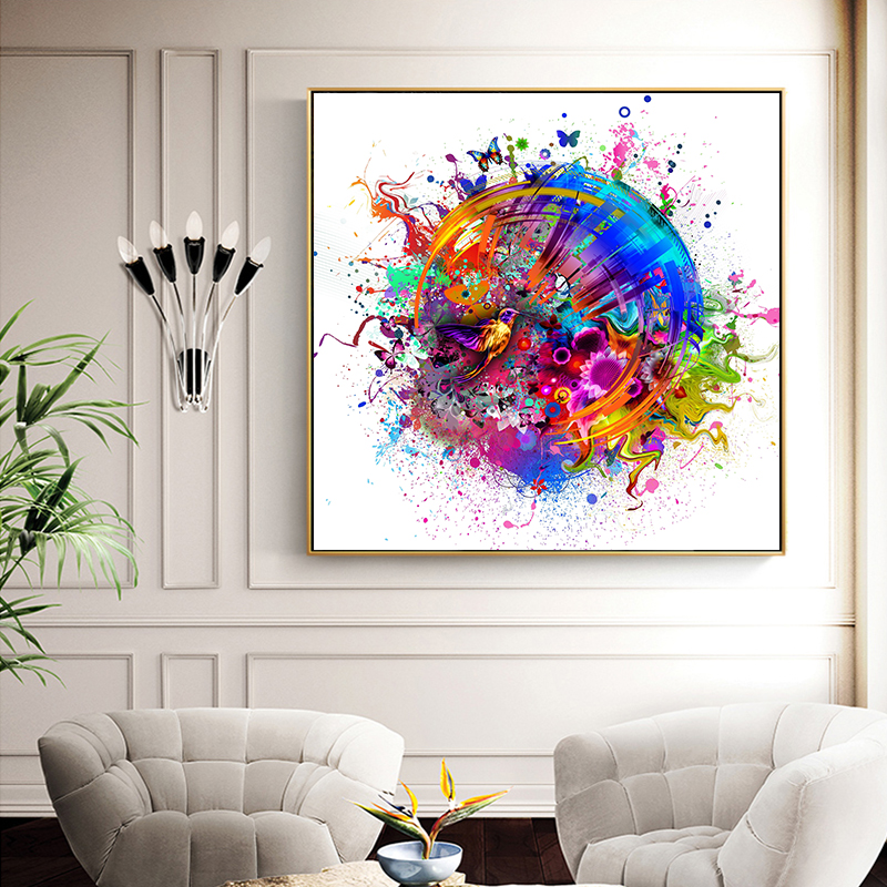Wall Art Pictures Colorful Bird Canvas Prints And Posters For Living Room Modern Animal Art Decorative Pictures Unframed