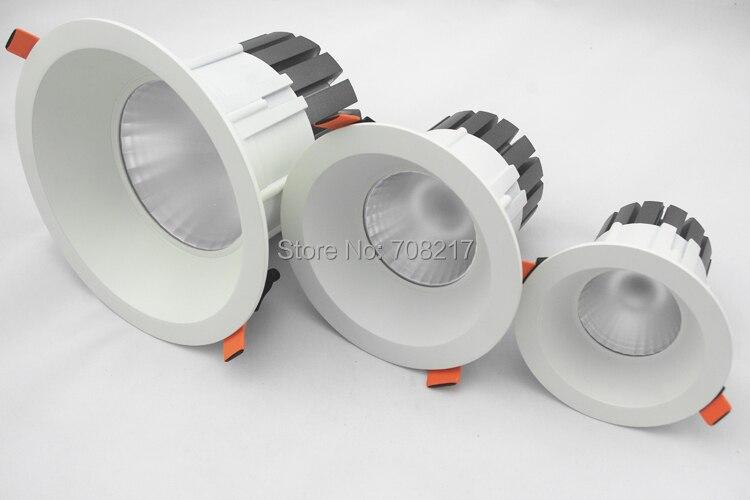 10 pcs lot high quality 15W 25W 40W cob led downlight Dimmable LED Spot light led