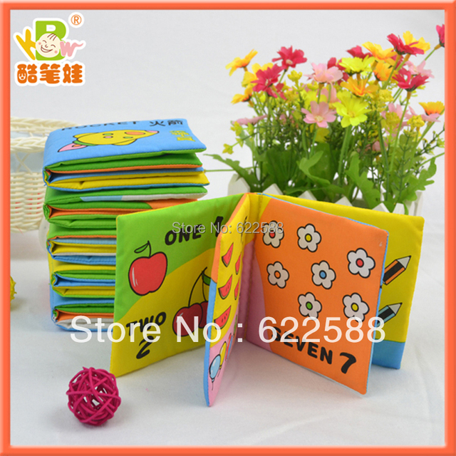 Hot Sale Early Cognitive Small Size 6pieces/set Cloth Book,fabric books for kids