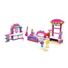 Enlighten kids toys City Girls Princess Outing Bus Car Building Blocks Model kit Bricks Educational Toys for Children gift цены онлайн