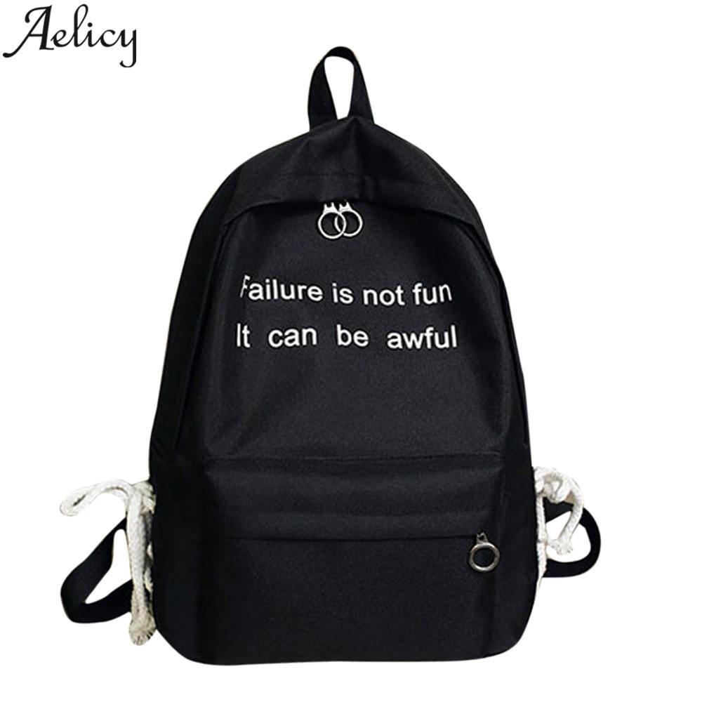 Aelicy Fashion Backpack Designers Brand Letter Bookbag Children Teenagers Backpacks Nylon Bookbag School Bags for Girls MochilaAelicy Fashion Backpack Designers Brand Letter Bookbag Children Teenagers Backpacks Nylon Bookbag School Bags for Girls Mochila