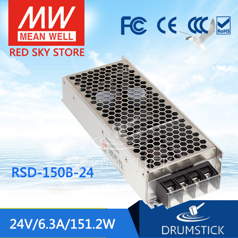 цена на Advantages MEAN WELL RSD-150B-24 24V 6.3A meanwell RSD-150 24V 151.2W Railway Single Output DC-DC Converter [Real6]