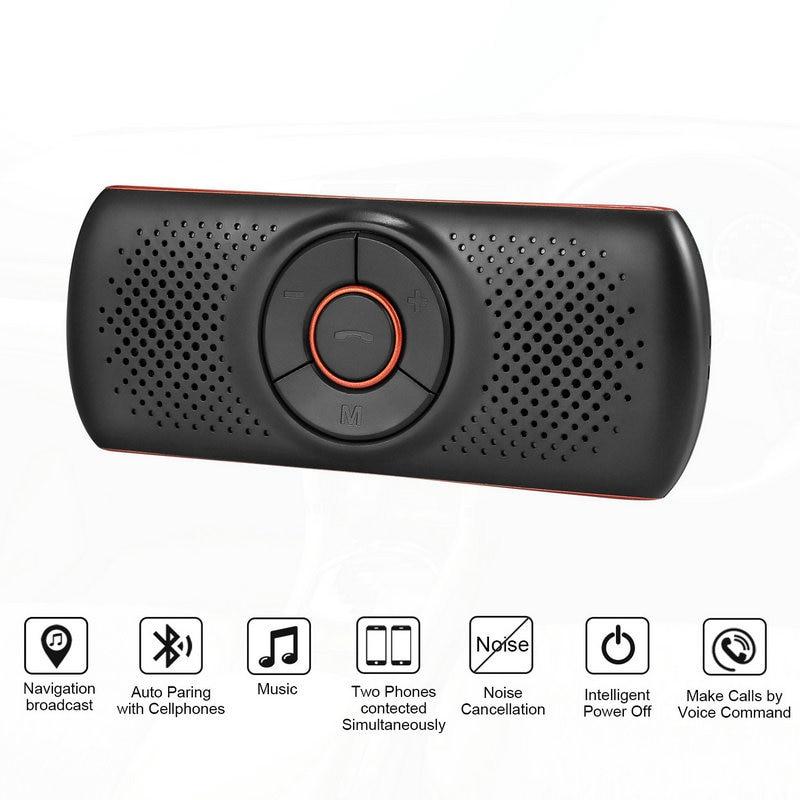 Multi-função Bluetooth Speakerphone Bluetooth 4.2 EDR Suporte para SIRI 3W Speaker Car Handsfree Kit MP3 Adaptador Jogador