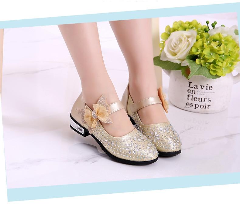 2019 sapatos de princesa da menina arco