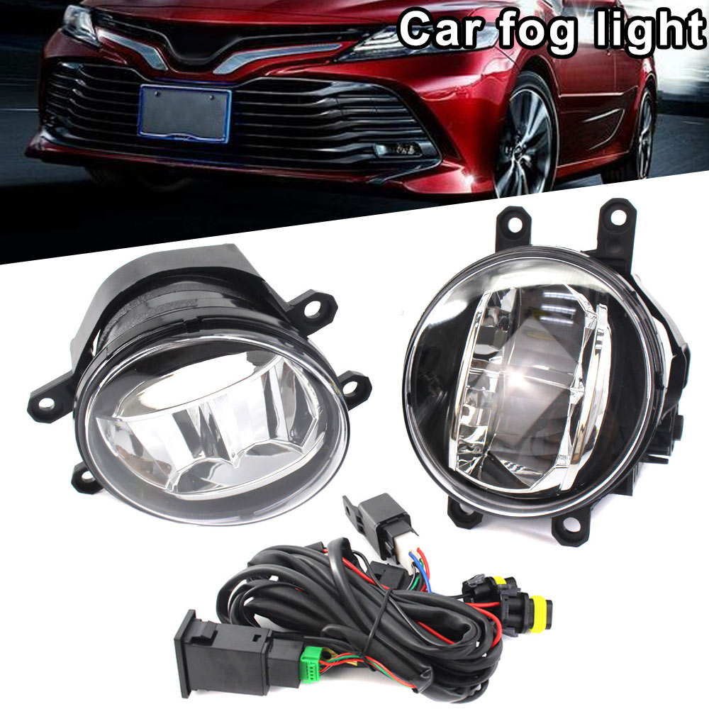 1Pair Fog Light Lamp 81220 81210 48050 For Toyota Lexus Land Cruiser Prius DXY88