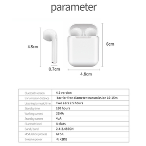 Image 2 - I9 tws bezprzewodowy zestaw słuchawkowy Bluetooth słuchawki stereo słuchawki sportowe z etui z funkcją ładowania dla Iphone Smart Phone słuchawki