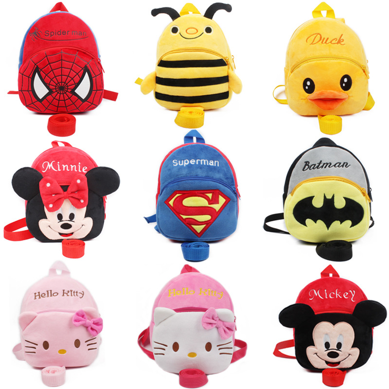 anti lost 1 2 5 years baby cartoon plush backpack New baby satchel child backpack decompression