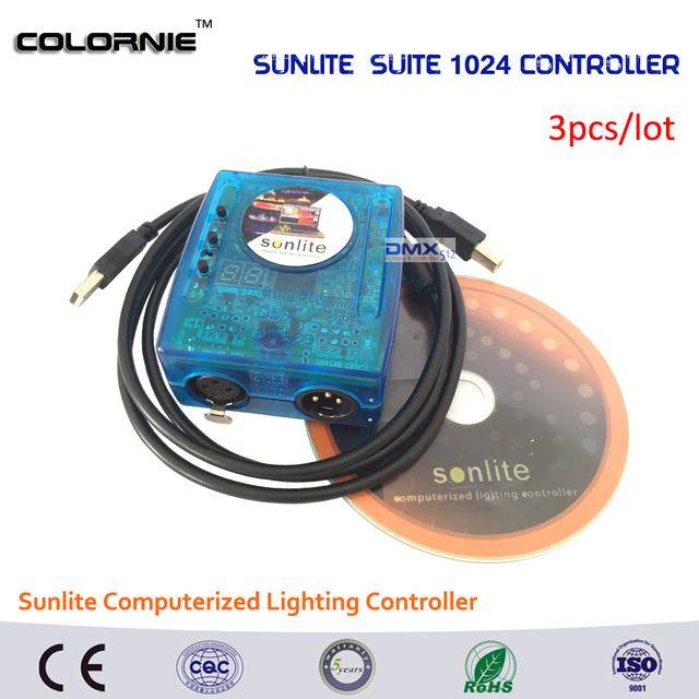 US $552 64 14% OFF|DHL Free shipping Factory wholesale Sunlite 1024 stage  light equipment DMX USB software control Sunlite computer dmx controller-in