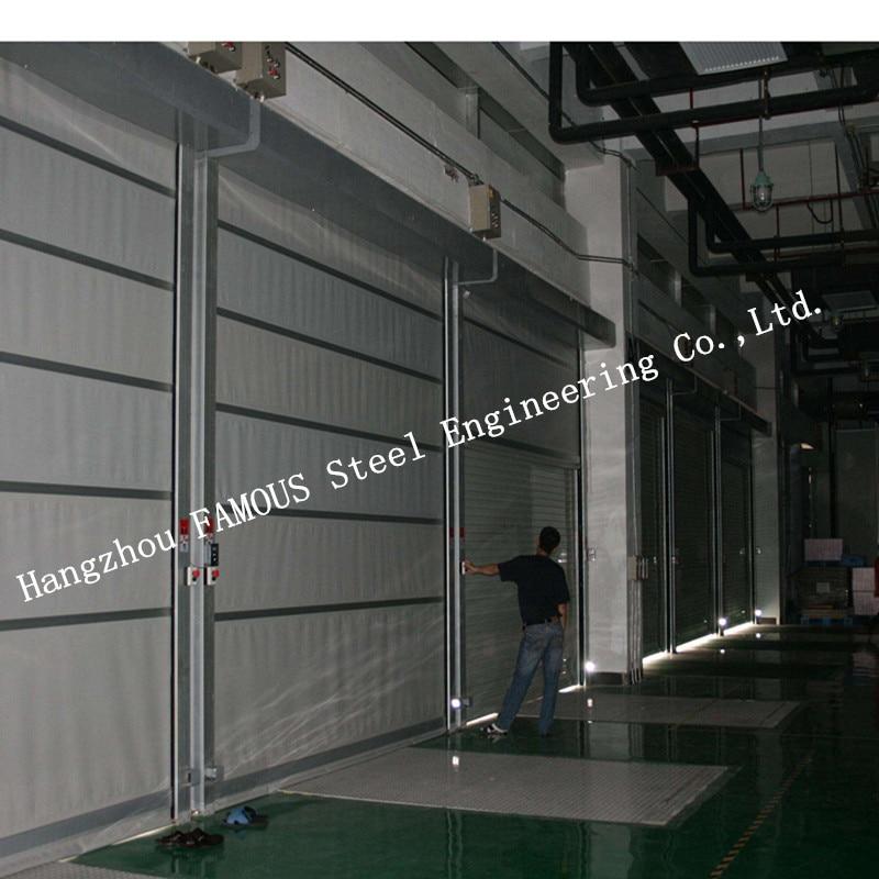 Indoors PVC Fast Rapid Rise Door And Outdoors Hard Metal High Speed Rolling Shutter Door