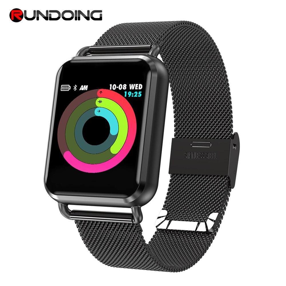 RUNDOING Q3 Smart watch Men waterproof Dynamic Blood Oxygen Pressure Pedometer fitness tracker Heart Rate smartwatch new garmin watch 2019