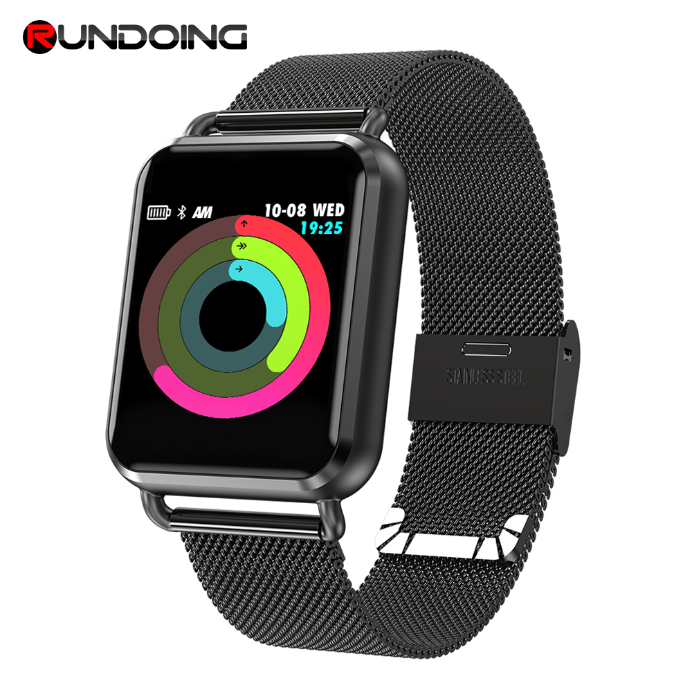 RUNDOING Q3 Smart watch Men waterproof Dynamic Blood Oxygen Pressure Pedometer fitness tracker Heart Rate smartwatch-in Smart Watches from Consumer Electronics on AliExpress