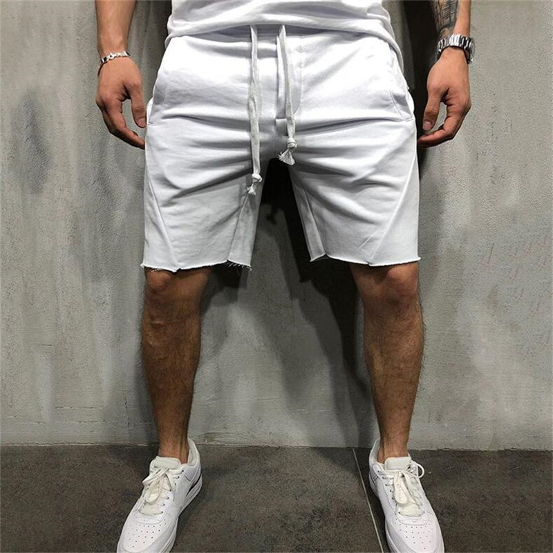 2019 New Fashion Men Sporting Beaching Shorts Trousers Cotton Bodybuilding Sweatpants Fitness Jogger Casual Gyms Men Shorts