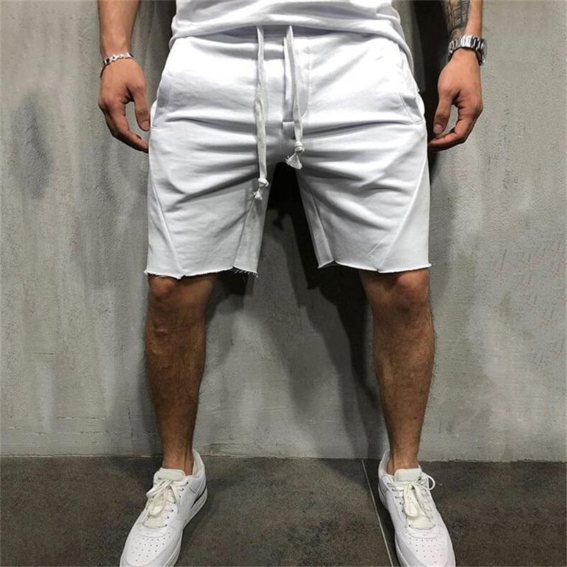 2019 New Fashion Men Sporting Beaching   Shorts   Trousers Cotton Bodybuilding Sweatpants Fitness Jogger Casual Gyms Men   Shorts