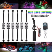 Motorcycle Atmosphere Light Bar Strips Remote Control Vehicles Motorbike Car Turn Signal Indicator RGB Atmosphere Lamp D XR657