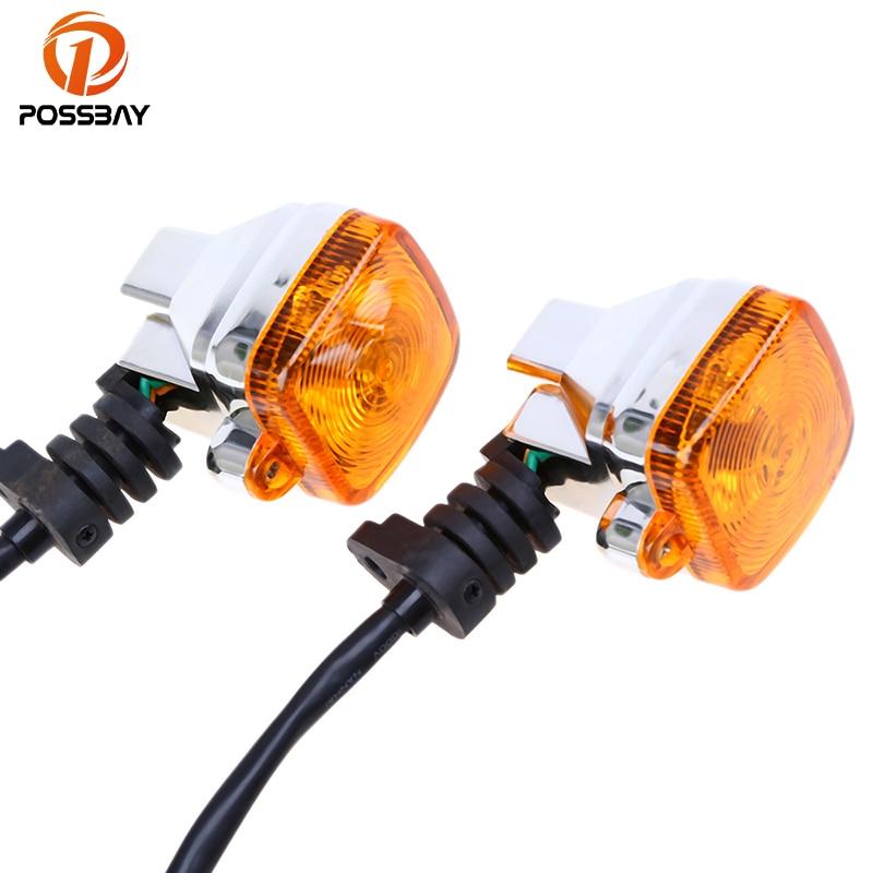 все цены на POSSBAY Universal Motorcycle Turn Signal Light Indicator Lights for Honda Ducati Suzuki Harley KTM Cafe Racer Flasher Lamp онлайн