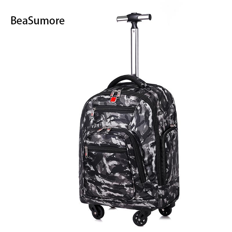 BeaSumore Shoulders Multifunction Travel Bag 18 inch Student Backpack Laptop bags Trolley Large Capacity Cabin Suitcases