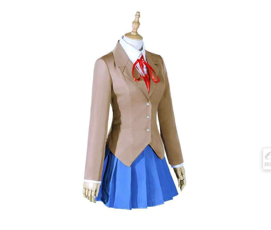 Cosztkhp doki doki literatura clube monika cosplay sayori yuri natsuki cosplay traje uniforme escolar menina traje feminino jogo cos
