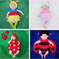 Fotografia props infantil da criança do bebê 4-12 meses sessão de fotos morango traje joaninha lagarta animal gatinho roupas novas