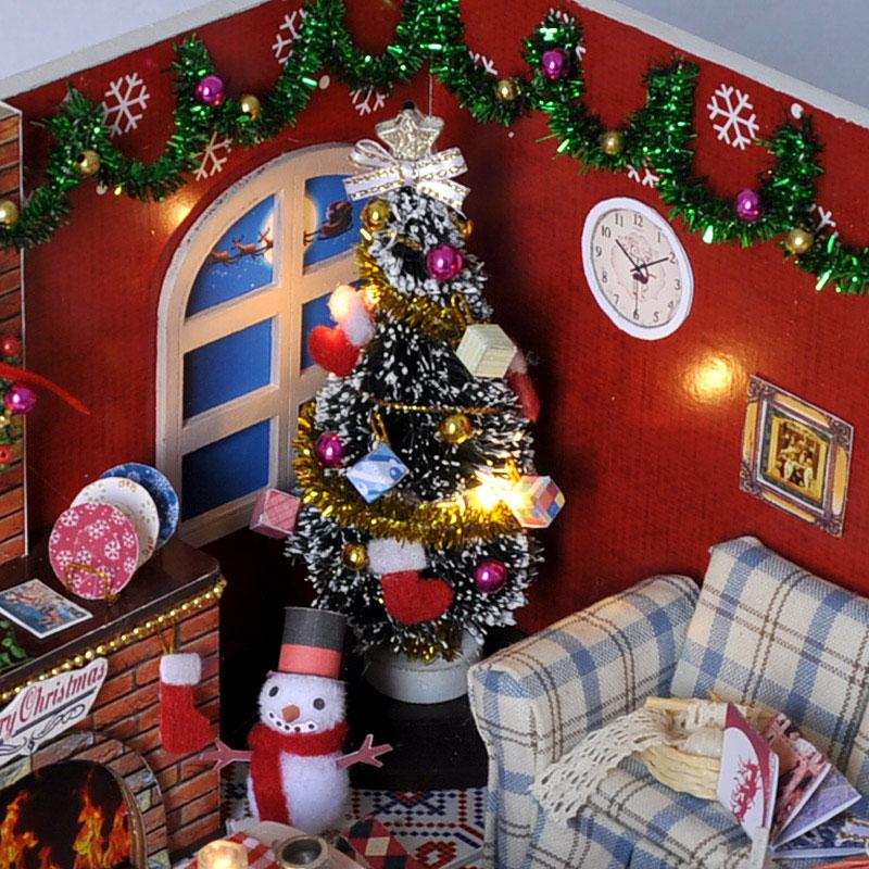 Kućica za lutke Minijatura DIY Dollhouse s namještajem Drvena kuća - Lutke i pribor - Foto 4