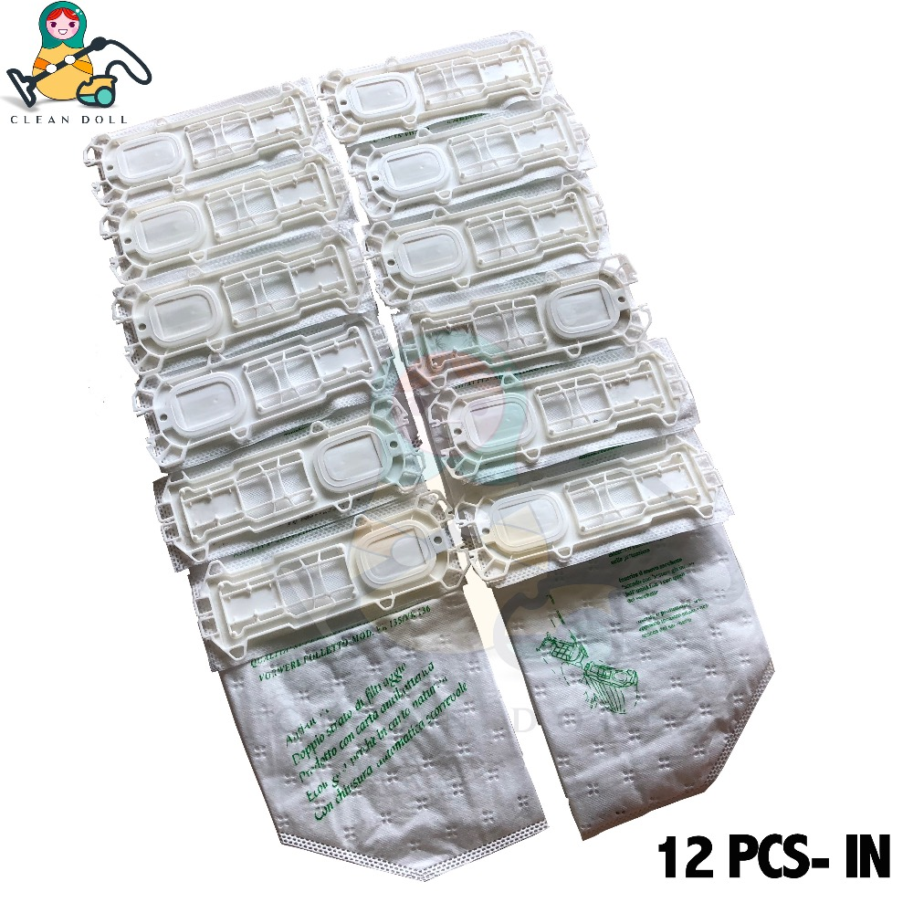 CLEAN DOLL 12-PCS/PACK  microfibre Dust Bags filter for Vorwerk Kobold  Hoover Vacuum Cleaner VK135 VK 136 VK369 dust bags CLEAN DOLL 12-PCS/PACK  microfibre Dust Bags filter for Vorwerk Kobold  Hoover Vacuum Cleaner VK135 VK 136 VK369 dust bags