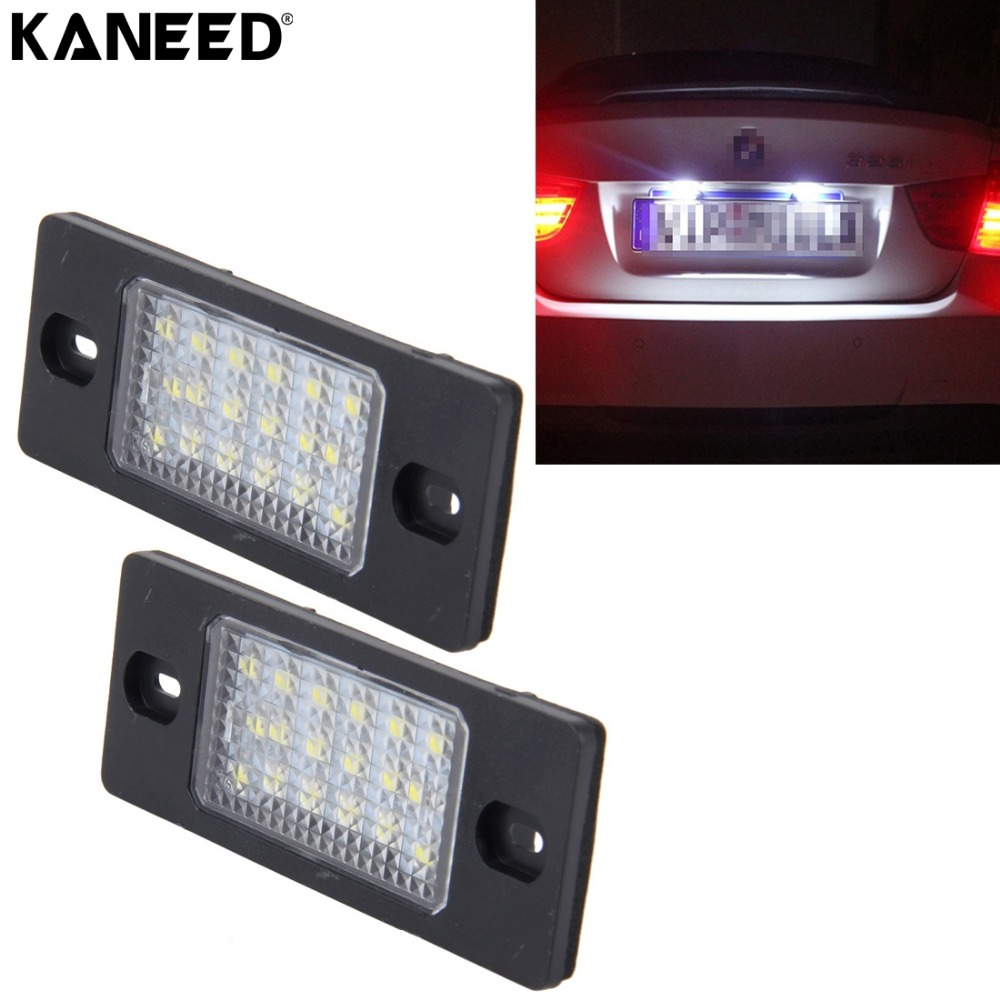 KANEED Super Bright Licence Plate Light For Prosche Cayenne 18 SMD-3528 Car Number Plate Licence Plate Light Lamps For Volkswage ...