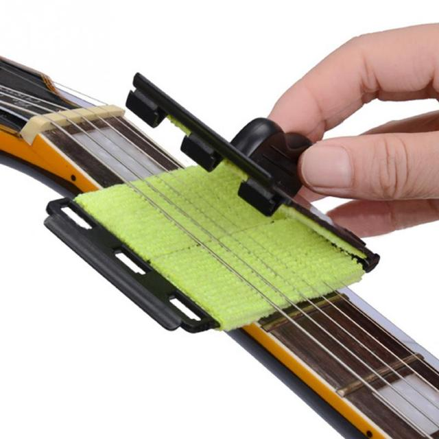 2019 Guitar Strings Cleaner Guitar Bass Cleaning Tool Strings Scrubber Cleaner Instrument Body Cleaning Tools