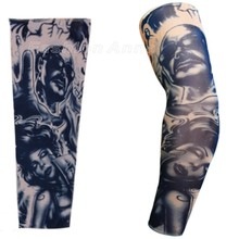 New Styles Elastic Fake tattoo Sleeves Eagle Fight Snake Pattern Arm stockings 3D Art Designs Tatoo Men-Women Free shipping