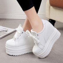 64f63399b4 2018 primavera verão senhoras new Coreano casuais sapatos de muffin de  fundo grosso sapatos brancos selvagens