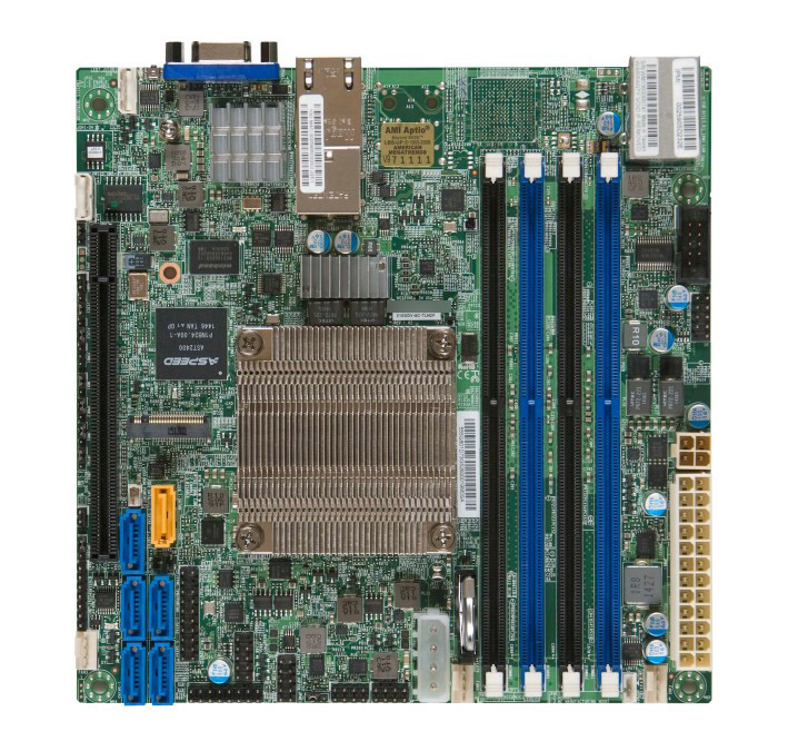 Onboard D-1508  X10SDV-2C-TLN2F Dual-core Dual-port NAS Server
